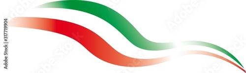 Fotomural Italian flag, tricolor, stylized. Vector illustration