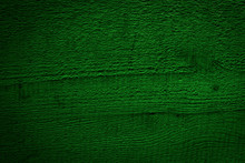 Texture Of Toned Dark Green Wood. Natural Pine Wood Background. Rough Sawn Boards Flat Surface. Copy Space For Text, Wallpaper Or Image.