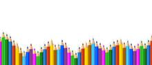Colored Pencils Arranged In Wa...