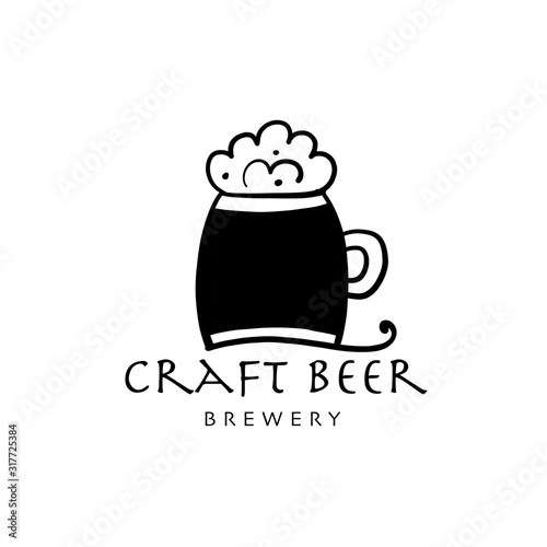 Logo design template for beer house, bar, pub, brewing company, brewery, tavern, Canvas Print