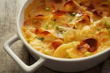 Potato Gratin / Scalloped Potatoes Close Up, Selective Focus