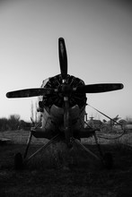 Old Rusted Propeller Airplane ...