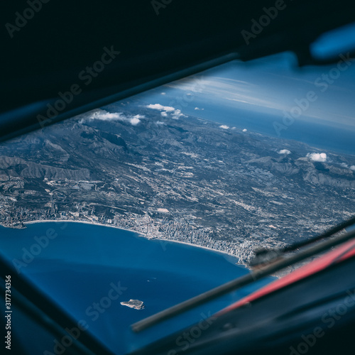 Climb out over Spain