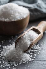 Crystaline Sea Salt In Bowl An...