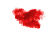 Launched Red Powder On White B...