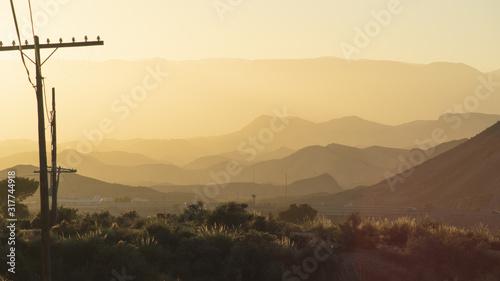 Atardecer en el desierto de Tabernas en Almeria Canvas Print