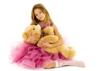 Little Girl With Teddy Bear.Is...