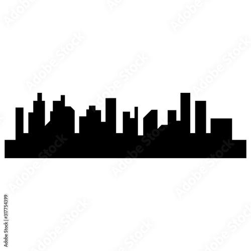 Fototapety, obrazy: Modern City skyline . city silhouette. vector illustration