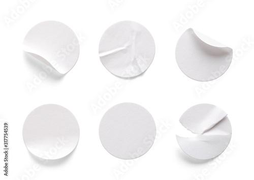 Round White Labels Tapéta, Fotótapéta
