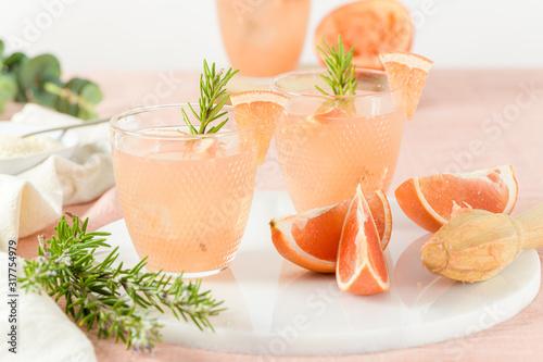 Obraz Grapefruit juice with rosemary - fototapety do salonu