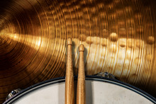 Close-up Of Two Wooden Drumsti...
