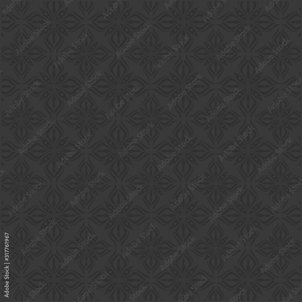 Luxury and elegant black seamless pattern Vector
