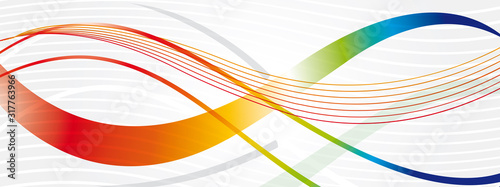 Naklejki abstrakcyjne  courbe-fond-multicolor-v2