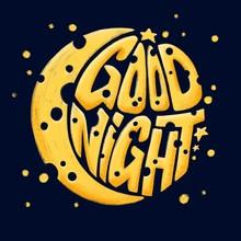 Good Night Phrase. Lettering W...