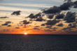 canvas print picture - Sonnenuntergang auf hoher See