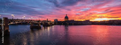 Fototapeta Ciel rouge à Toulouse obraz
