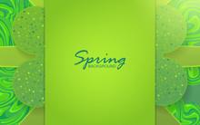 Elegant Green Frame Flower Sha...