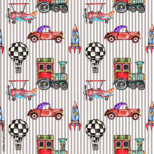 akwarela-recznie-rysowane-artystyczny-retro-steampunk-pojazdu-rocznika-wzor