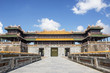 Imperial city of Hue. Low season with no people. Noobody in the photo. Holiday destination tourists attraction in Vietnam.
