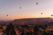 Dozens Of Hot Air Balloons Are...
