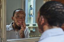Young Man With Vitiligo Lookin...