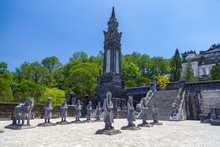 Statues At The Tomb Of Emperor...