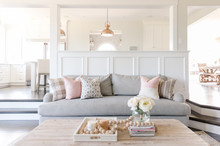 Interior White Sitting Room An...
