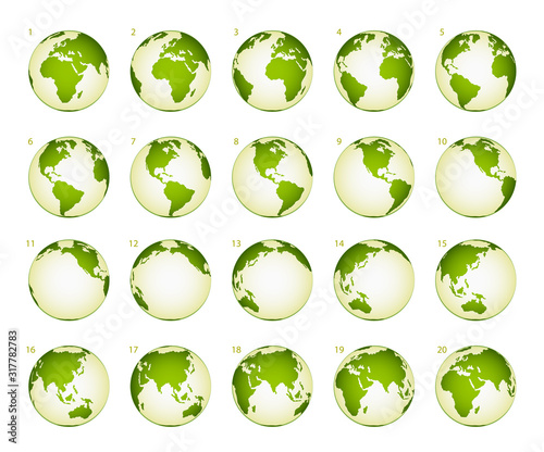 Obraz Planet rotation phase on a white background - fototapety do salonu