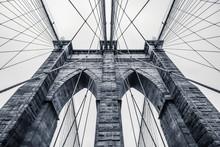Nadir Look To Brooklyn Bridge