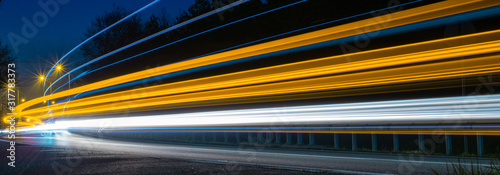 lights of cars with night Poster Mural XXL