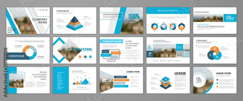 Fototapeta Business presentation slides templates obraz