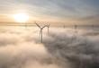 canvas print picture - Nebel Herbst von oben