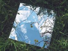 Broken Mirror On Glass