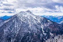 Beautiful Mountain View From Monte Lussari In Tarvisio, Friuli Venezia Giulia, Northern Italy.
