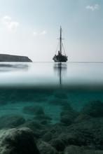 Tall Ship Sailing On Sea Again...