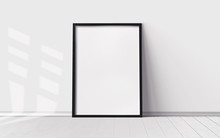 White Poster With Blank Frame ...