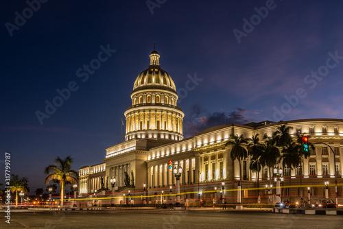 Le capitole de cuba dans la province de La Havane Canvas Print