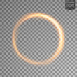 Rotating gold light. isolated on transparent background