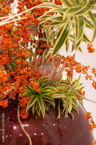 Photo Ikebana Japanese art of flower arrangement