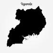 High detailed vector map - Uganda