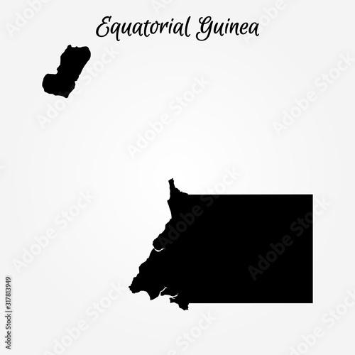 Fotografía Map of Equatorial Guinea. Vector illustration. World map
