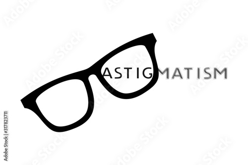 Creative design of astigmatism icon Canvas Print