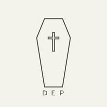 Design Of Coffin Flat Icon, DE...