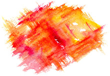 Orange Watercolor Spot With Ro...