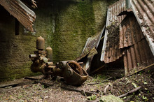 Old And Rusty Water Pump In An...