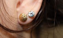 Girl Ear With Two Earrings Clo...
