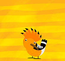 Cartoon Scene With Animal Bird...