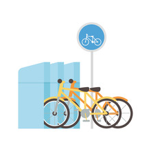 Parking Bicycles Transport Alternative Icon