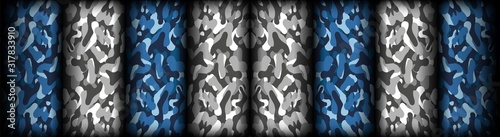 Photo Abstract camouflage seamless pattern texture military