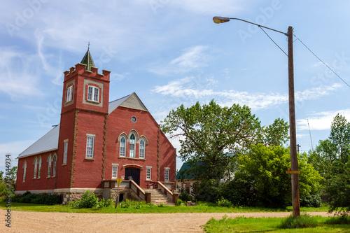 Historic Heritage United Church Saskatchewan Canada Wallpaper Mural